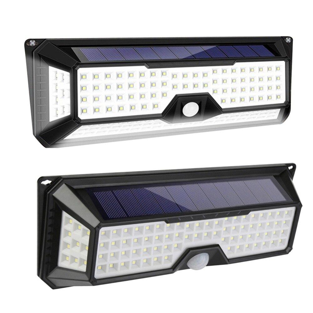 118/136LED Solar Licht Solar PIR Motion Sensor Lampe IP65 Wasserdichte Outdoor Garten Hof Lampe Notfall Sicherheit Licht Solar lampe