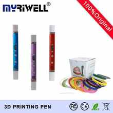 Third Generation 3D Printing Pen Doodle Creativity Drawing 3D Pen+USB Charging+Manual+100M 20Color ABS Filament Kids Best Gift