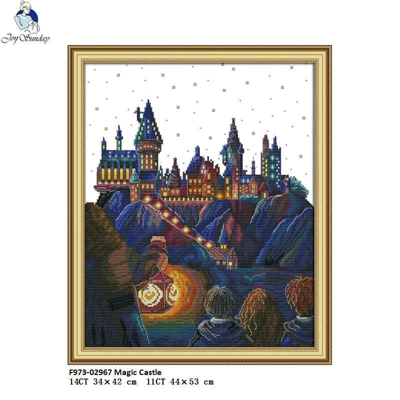 Joy Sunday Magic Castle Counted Cross Stitch DMC Handmade DIY 11CT 14CT Cross-Stitch Kit NKF Embroidery Factory Wholesale
