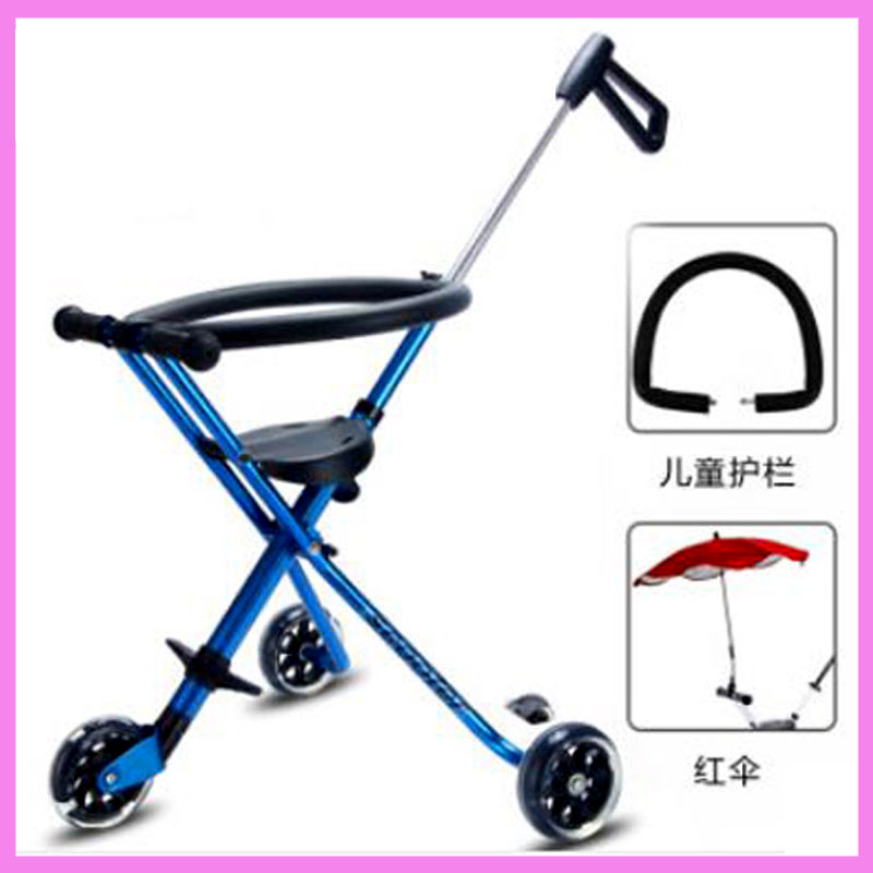Lightweight Toddle Kids Child Portable Tricycle Stroller Light Baby Stroller Travel Folding Pram Buggy Three Wheel Pushchair hot sale factory direct sale babyyoya stroller portable newborn pram light weight pushchair travel foldable pram