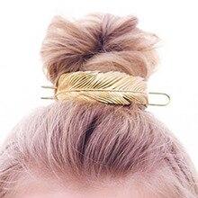 Original pluma Bun puño Vintage hoja palo de pelo Set mujeres únicas boda accesorios para el cabello Retro horquillas mujer Bijoux 2019