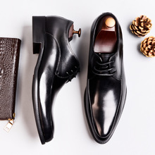 QYFCIOUFU Genuine Cow Leather Luxury Italian Shoes Mens Flats Shoes Lace Up Handmade Oxford Shoes Black Wine Red Dress Shoes