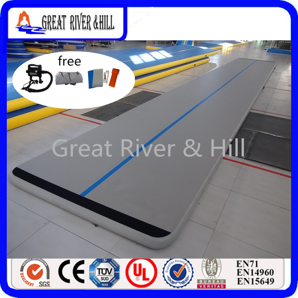 Great river & hill GYM mats air track high quality with fedex shipping 8m x1m x10cm