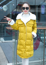 2017 Fashion Pure Color Winter Women Cotton Wool Jacket Long Thickness Single Breasted Women Winter Warm Cotton Wool Parka