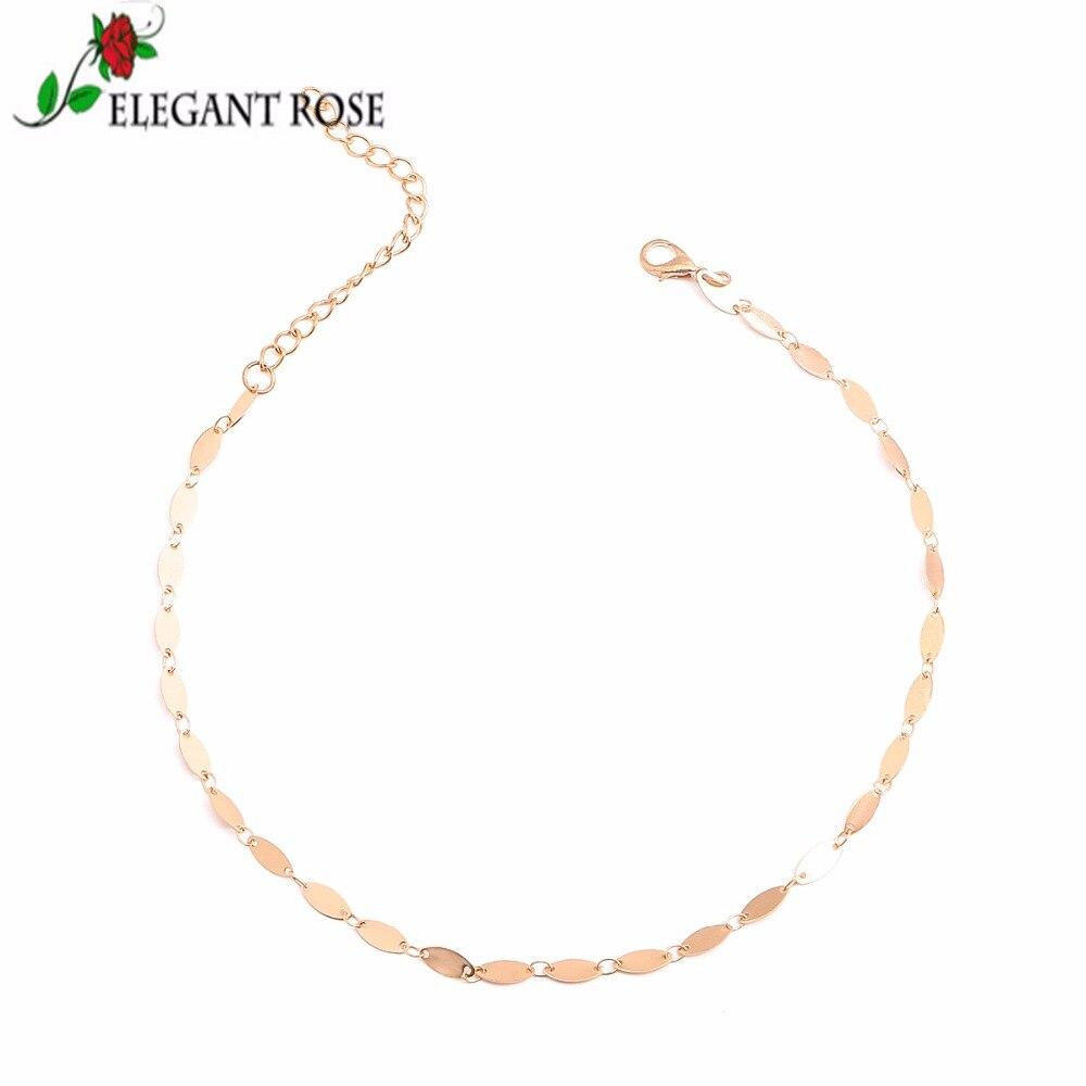 ElegantRose Statement Gold Color Oval Metal Colar Choker Necklace For Wonder Women font b Wedding b