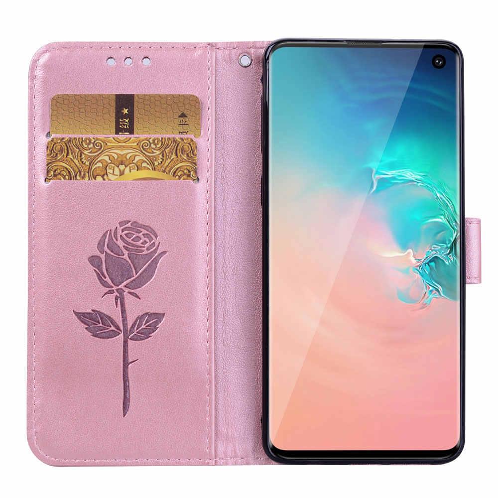 3D Fleur En Cuir étui pour huawei P20 P10 P8 Lite Y5 Y6 Y7 Premier 2018 2017 P Smart Honneur 7X 8X 8C 9 10 Lite Y9 2019 Couverture de téléphone