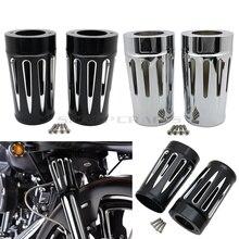 Deslizador de horquilla de arranque delantero para motocicleta, cubiertas de deslizador CNC para Harley Touring y modelos de Trike Road King Street Electra Glide