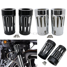 BRAND NEW Deep Edge Cut Front Fork Boot Slider Covers for Harley Touring Turing And Trike Models Road King Street Glide 86-14 цена