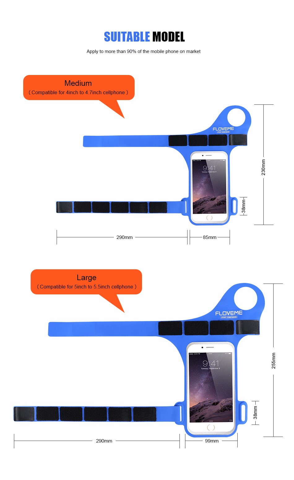 FLOVEME New Cycling Sports ARMBAND Case For Apple Iphone 6 6S Plus SE 4S For Iphone5S For XIAOMI REDMI For HUAWEI P9 Touch Pouch 1 (7)