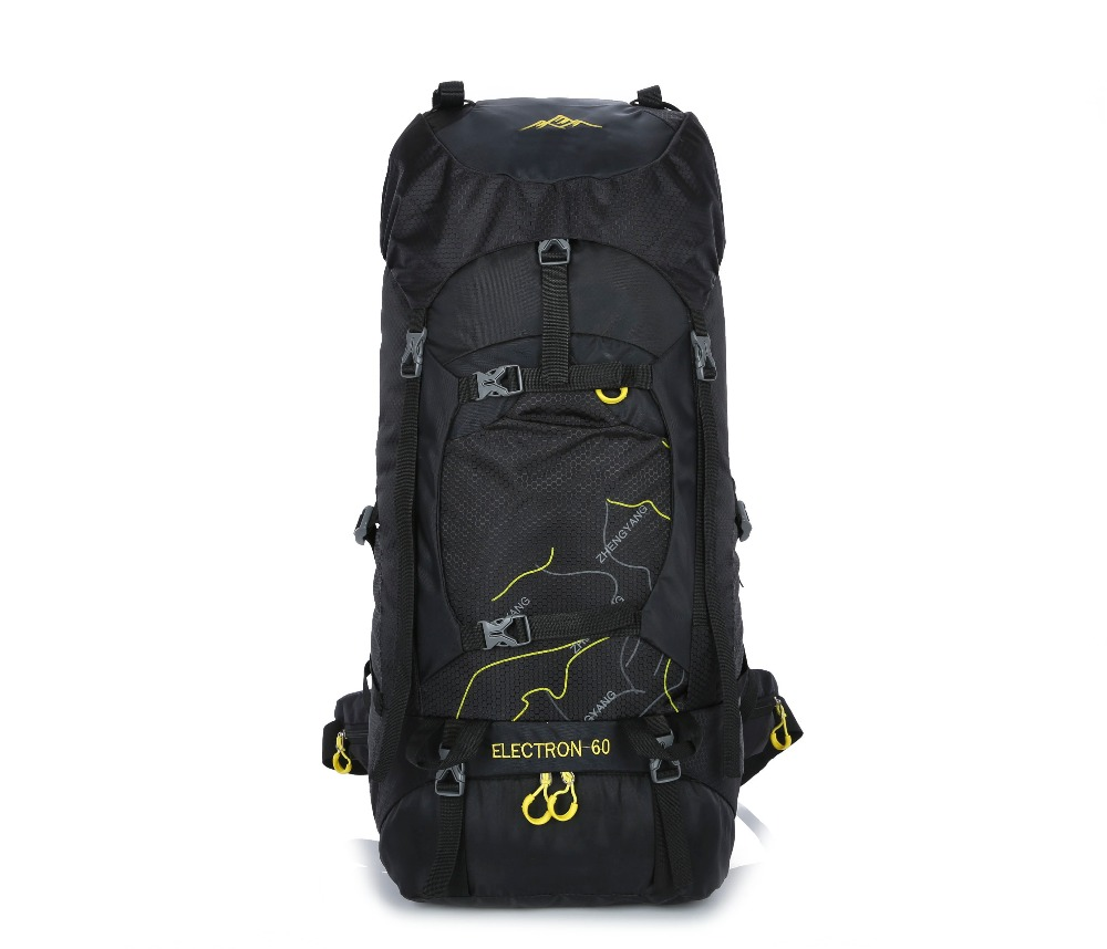 60L waterproof camping backpack unisex backpack outdoor climbing sports bag hiking backpack-in Climbing Bags from Sports & Entertainment    1