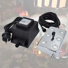 1.8 KG/H Pur cuivre Ultrasons Brume Fraîche Humidificateur culture en Serre 6 tête 150 W rocaille fontaine Air Purificateur Mist Maker