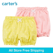 Carter's 2-Pack baby children kids clothing Girl Spring & Summer Dots Striated Crinkle Shorts 126H210