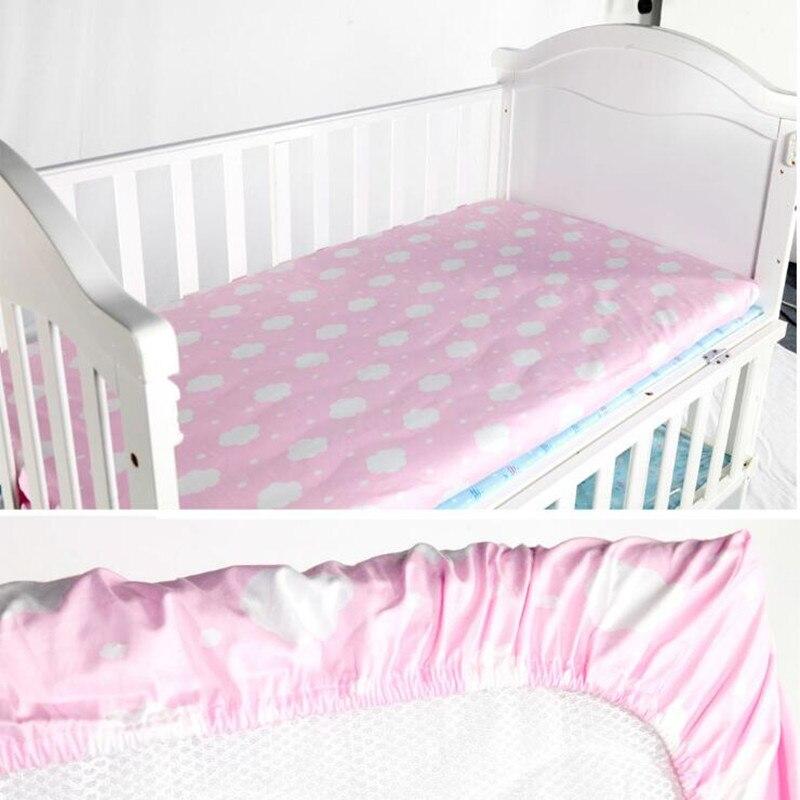 Новый 100% хлопок новорожденных кроватка оснащена Простыни мягкая детская кровать Матраса Протектор мультфильм Постельные принадлежности д... ...