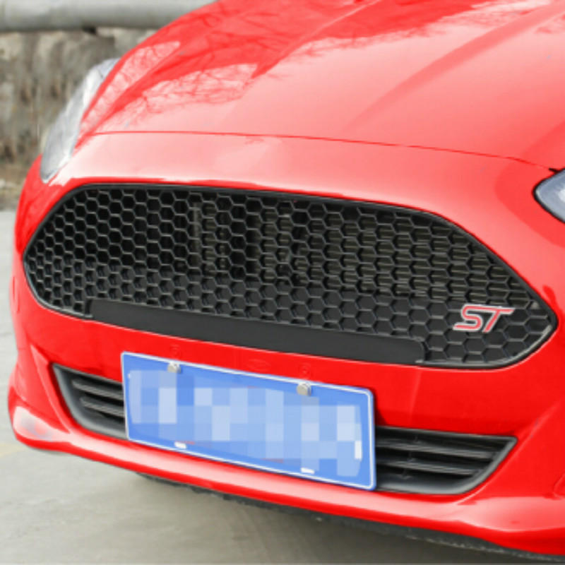 High Quality Pure Piano Black Fresh Fiesta Racing Grill ST Grille for Ford Fiesta 2013 2014
