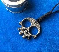 LEMIFSHE Skull Skeleton Ti Titanium bottle openers punch daggers outdoor Finger Buckle Survival pocket EDC Wrenches opener tools