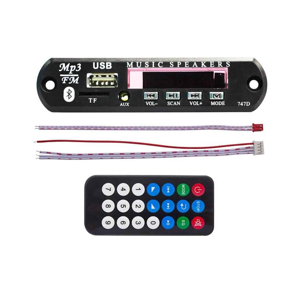 5V/12V Car MP3 Player Decoder Board WMA FM Radio Wireless Bluetooth Audio Module