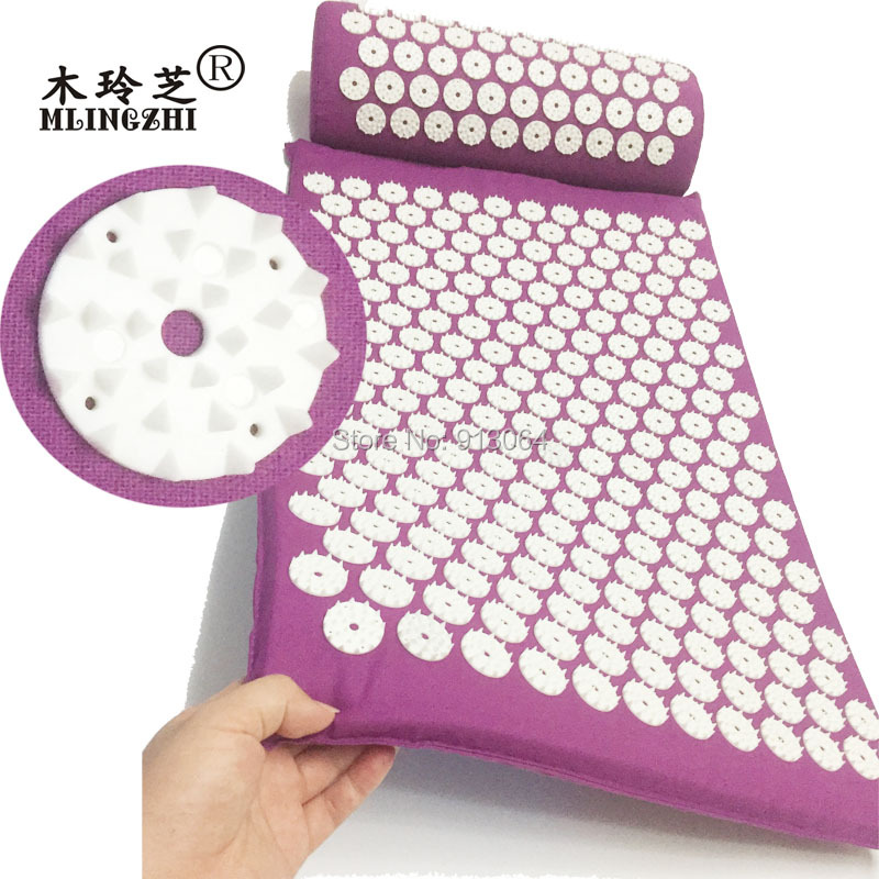 ABS spike acupressure mat massage cushion shakti mat before or after yoga relieve pain improve sleep drop ship free shipping