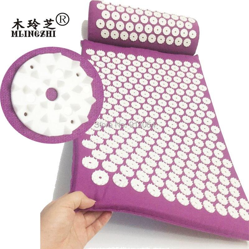 Envío de la gota ABS spike acupressure mat masaje cojín mat antes o después yoga aliviar el dolor mejorar el sueño envío libre