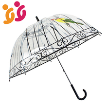 Transparent Umbrella Long Handle Umbrella Rain Women Creative Semi-automatic Sunny and Rainy Umbrella Girls Outdoor Tools
