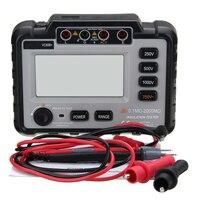 Jiguoor 250/500/1000V DC Lightweight Wide Range LCD Backlight VC60B+ Digital Insulation Resistance Tester Megger MegOhm Meter