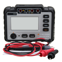 Jiguoor 250/500/1000V DC Lightweight Wide Range LCD Backlight VC60B+ Digital Insulation Resistance Tester Megger MegOhm Meter