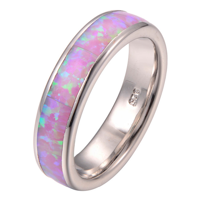 Newest hotsell Pink Fire Opal 925 Sterling Silver Fashion Ring Size 5 6 7 8 9 10 11 F1275
