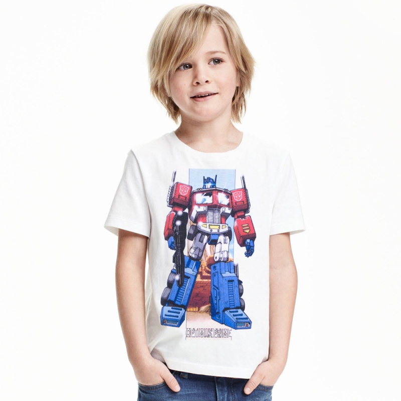 17 Boys Fashion Tops Cotton short sleeve children t shirts cute cartoon game boys figure kids wear summer Robot Optimus Prime 3