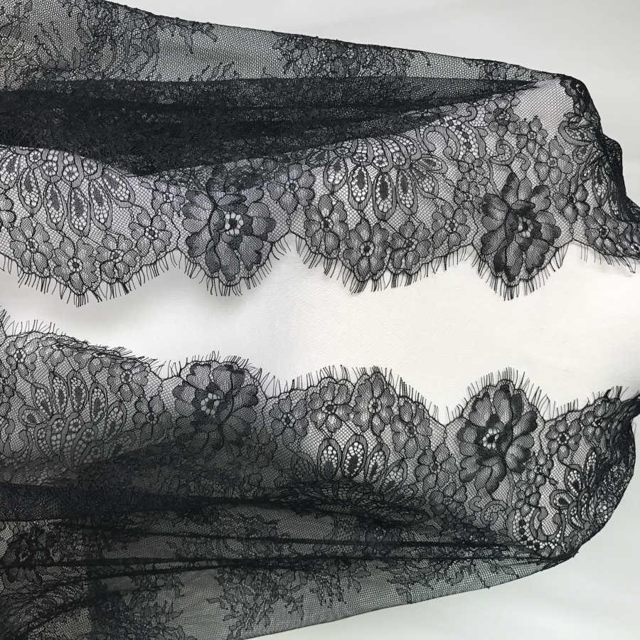 Черное кружевное платье для невесты 23 6 &quotс широкими ресницами Chantilly создания