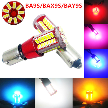 2X BA9S Canbus 57 SMD 3014 LED Auto T4W BAX9S H6W BAY9S H21W White 12V Car side wedge door clearance Marker Reverse head lamp 2pcs high power canbus error free white amber ba9s t4w bax9s h6w bay9s h21w 64136 xbd 11w led lights reverse parking bulb lamps