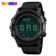 SKMEI Mens Watches Top Brand Luxury Sport Smart Watch Silicone Strap C