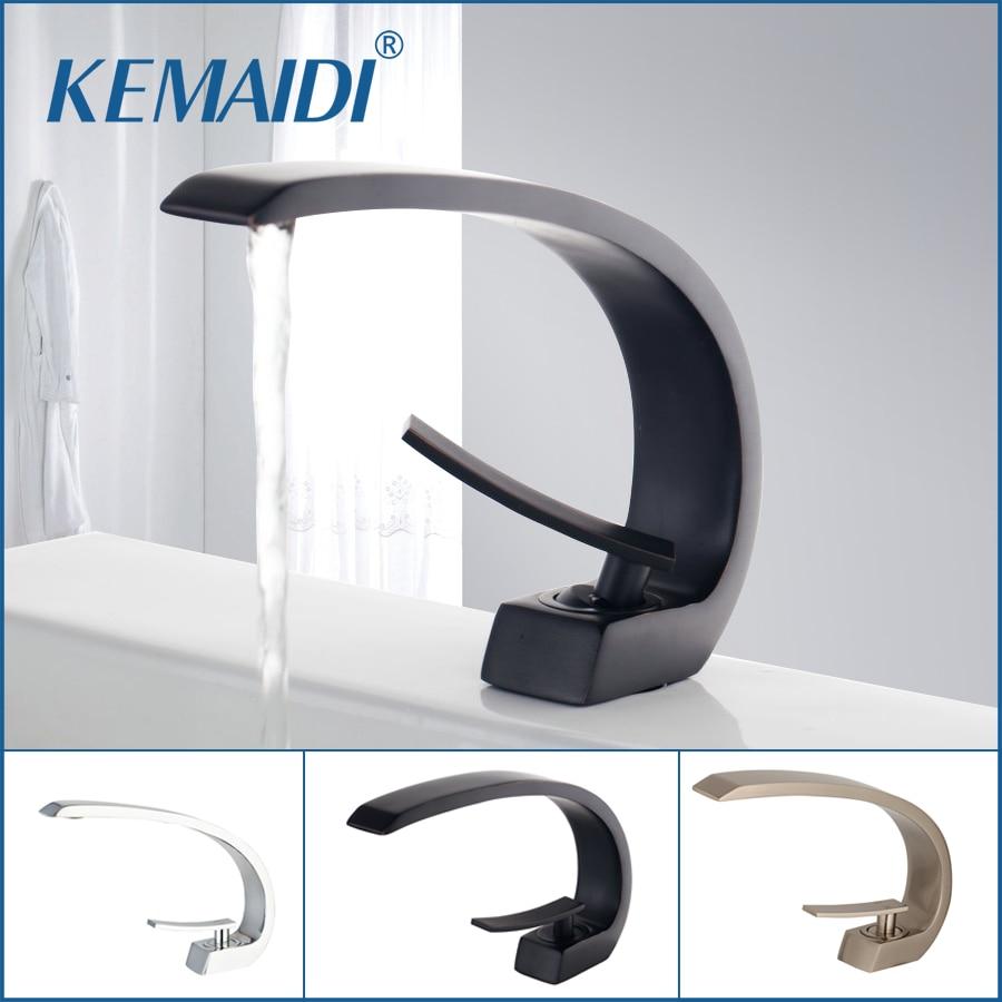 KEMAIDI robinet de lavabo en laiton noir Chrome robinet brosse Nickel évier mitigeur vanité eau chaude froide robinets de salle de bain