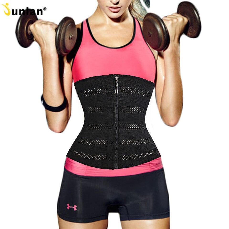 c0db5e5ca38 Zipper Waist Trainer Slimming Belt Shapewear Belly Waist Cincher Control Corsets  Tummy Girdle Weight Loss Belt Body Shaper