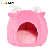 Winter Warm Cat Cave House Sheep Shape Lovely Bed For Cats Soft Suitable Pet Cushion Dog Sleeping Nest Kennel