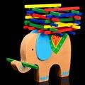 O envio gratuito de cor bar jogo adere a trave de equilíbrio equilíbrio Elefante, os pais e as crianças do brinquedo, Cabeça cedo Começar A Treinar