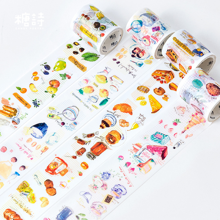 5 Cm Wide Delicious Food Drink Style Washi Tape Adhesive Tape DIY Scrapbooking Sticker Label Craft Masking Tape