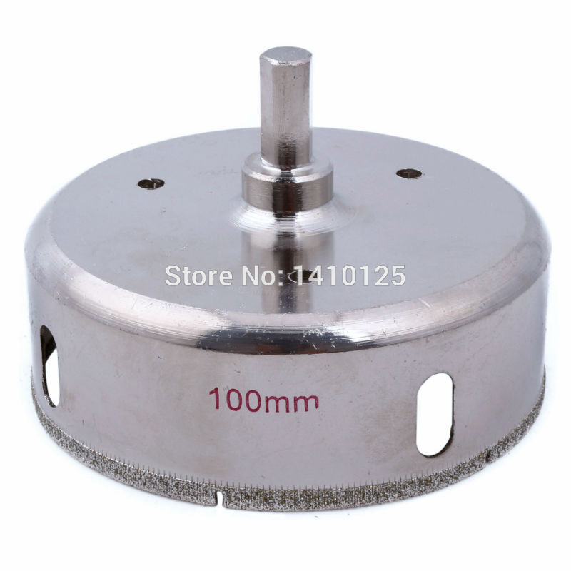 100 mm 4 inch Diamond Hole Saw Granite Drill Bit Coated Masonry Drilling Cutter Tools for Stone Marble Glass Ceramic Tile Rock sintering steel body thin wall drilling tools for marble ceramic granite hole saw taper shank length 50mm diameter 80mm e021476