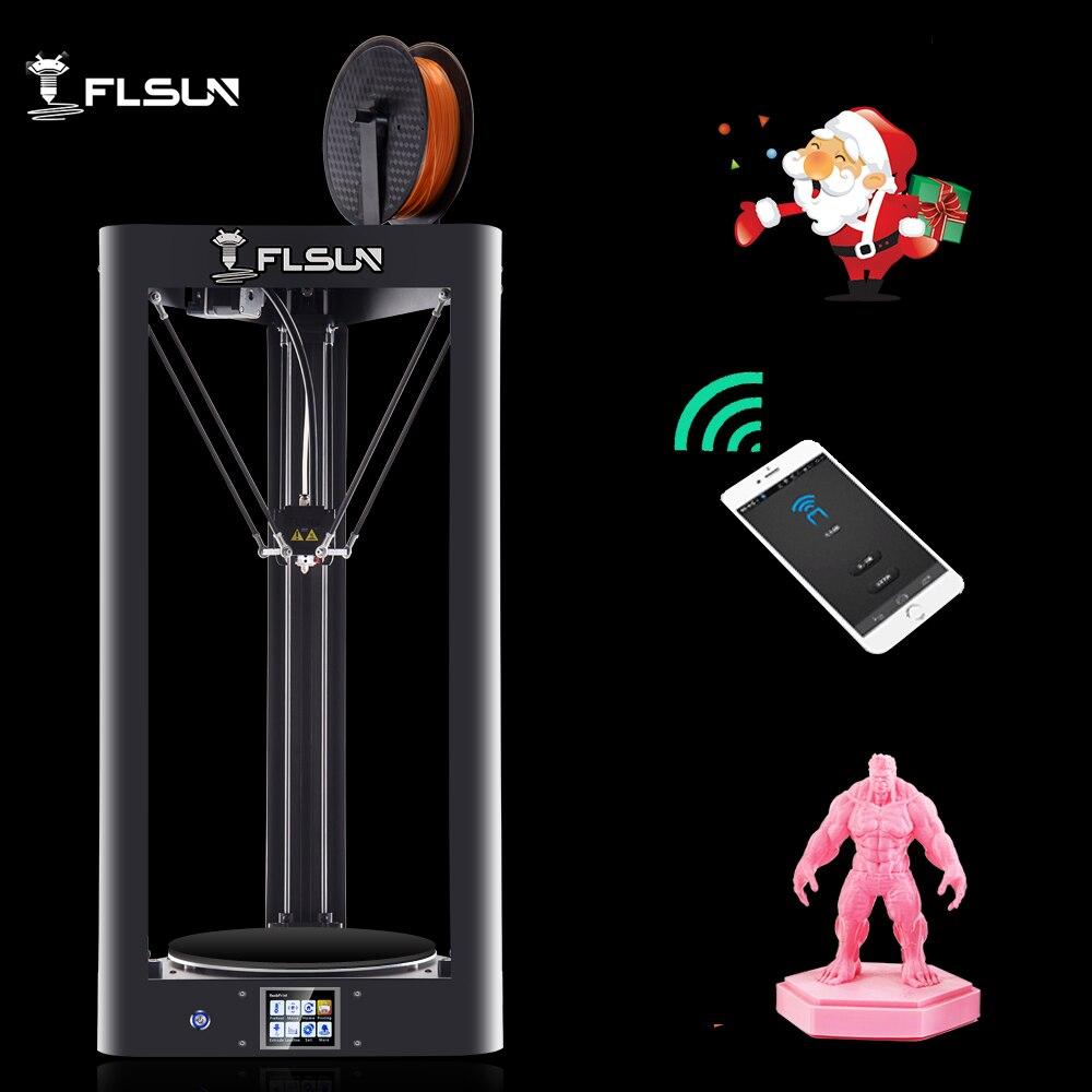 2019 NOUVEAU 3D Imprimante Flsun QQ-S Auto Nivellement Treillis HeatBed Pré-assemblée Titan écran tactile Wifi 32 bits boad livraison à partir de genmany