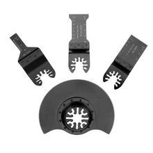 4 шт./компл. HCS Осциллирующие пильные диски Аксессуары Мультитул пилы Мощность деревянные биты для режущего инструмента
