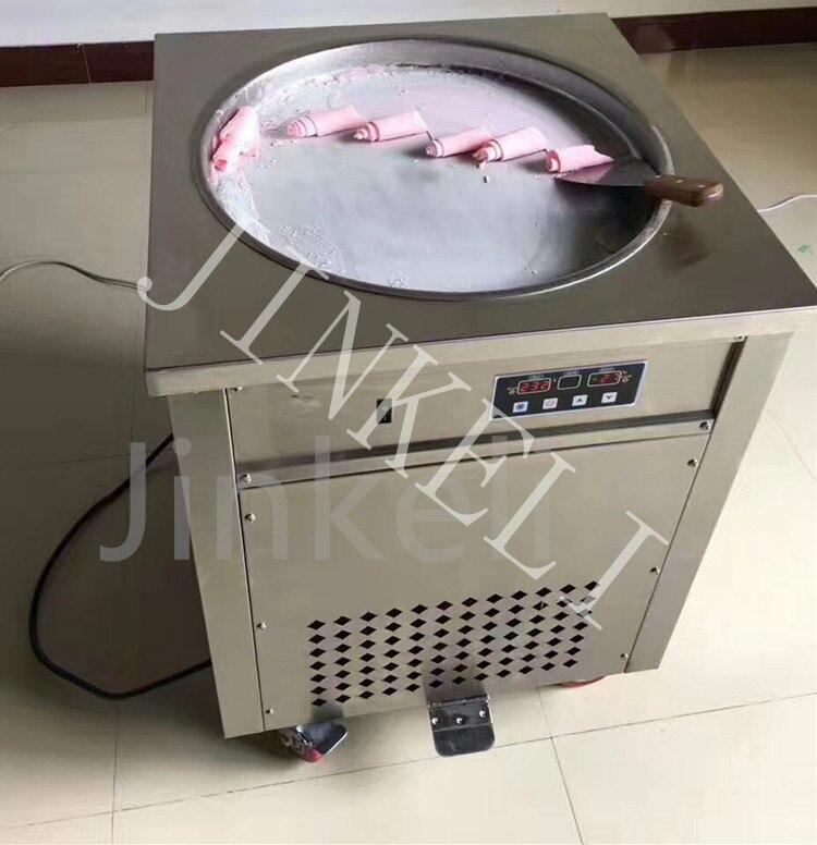 Бесплатная доставка воздуха Таиланд жареное мороженое машина 1800 Вт круглый квадратный один горшок жареное мороженое создатель сделать рул