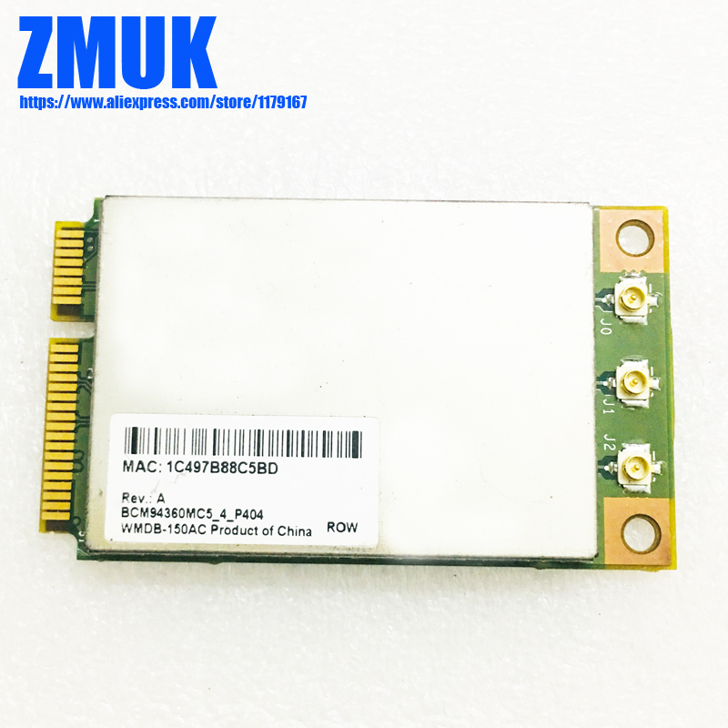 BCM4360 BCM94360MC5 1300Mbps 802.11ac & 5GHz WiFi Card image
