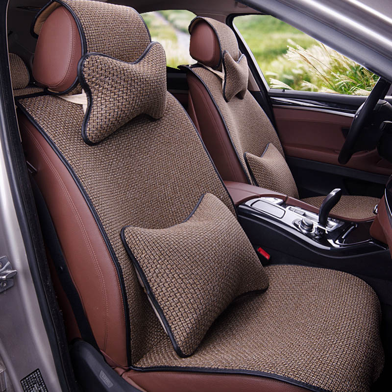 Yuzhe Linen car seat cover For Infiniti QX50 EX35 FX30 FX50 G25 G37 Q50 Q70L ESQ car accessories styling cushion hand sewn leather cowhide steering wheel diy sticker cover for infiniti q50 qx50 ex35 jx qx60 q60 q70 g ex interior accessories