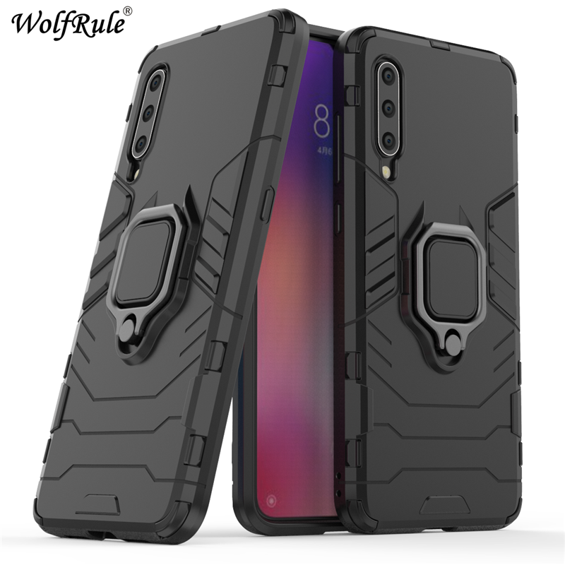 "Xiaomi Mi 9 Case TPU Hard PC Xiaomi Mi9 Case Ring Holder Stand Magnetic Armor Case For Xiaomi Mi 9 SE Mi9 Phone Fundas 6.39"" }"