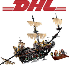 2017 New 10680 2344Pcs Pirate Ship Series The Slient Mary Model Building Kits Blocks Bricks Toys For Children Compatible 71042