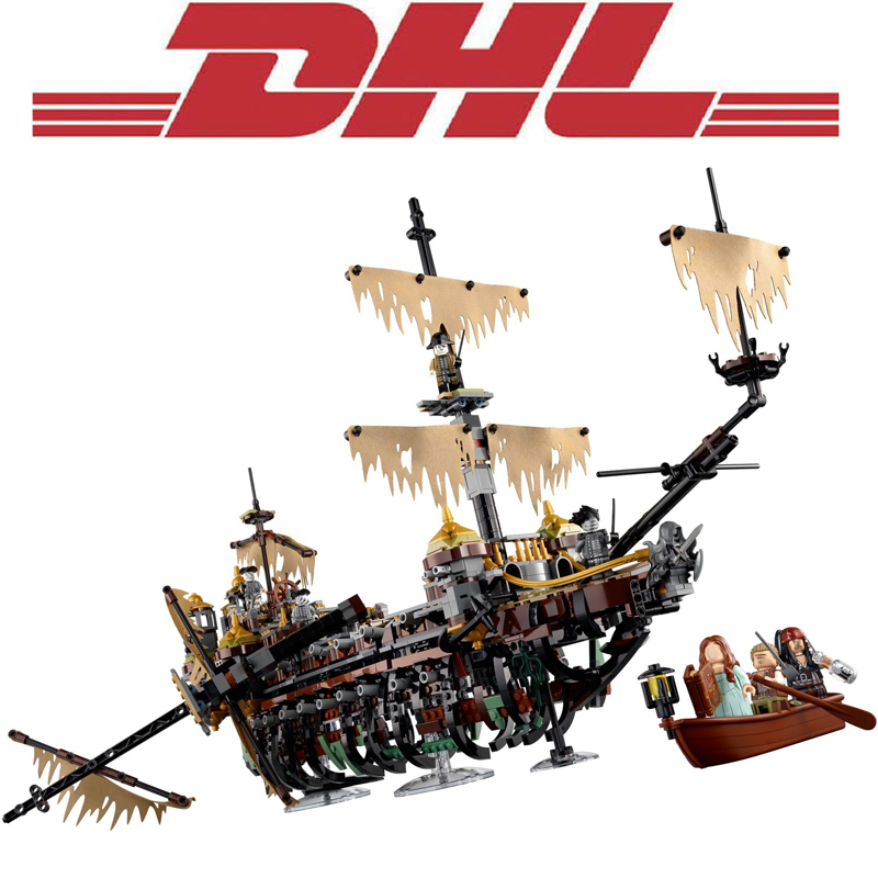 2018 New 2344Pcs Pirate Ship Series The Slient Mary Model Building Kits Blocks Bricks Kids Toys For Children Compatible 71042 lepin 16042 2344pcs pirate of the caribbean ship slient mary children educational building blocks bricks compatible 71042 toys