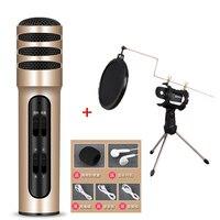 HENA telefono K canzone microfono a condensatore microfono Palmare C7 cantare Universale K-live microfono compatibile tablet cellulare