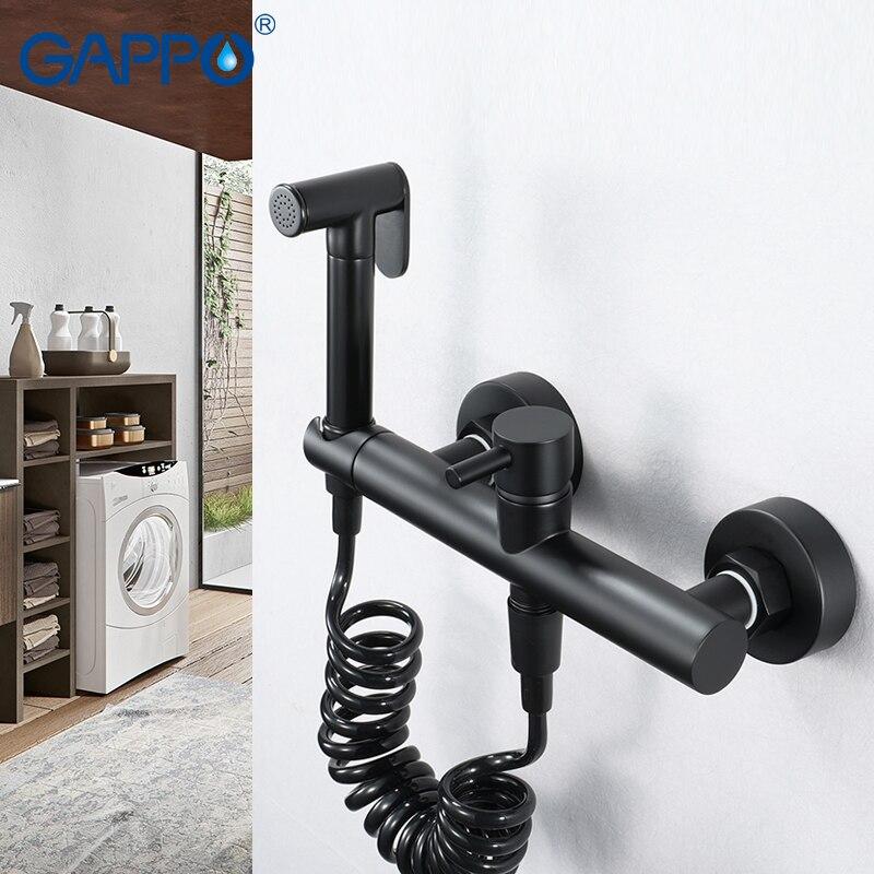 GAPPO Bidets robinet Antique Chrome nettoyant pour toilettes ensemble douche Spray Bidet noir-peinture premium laiton robinets de toilette douche