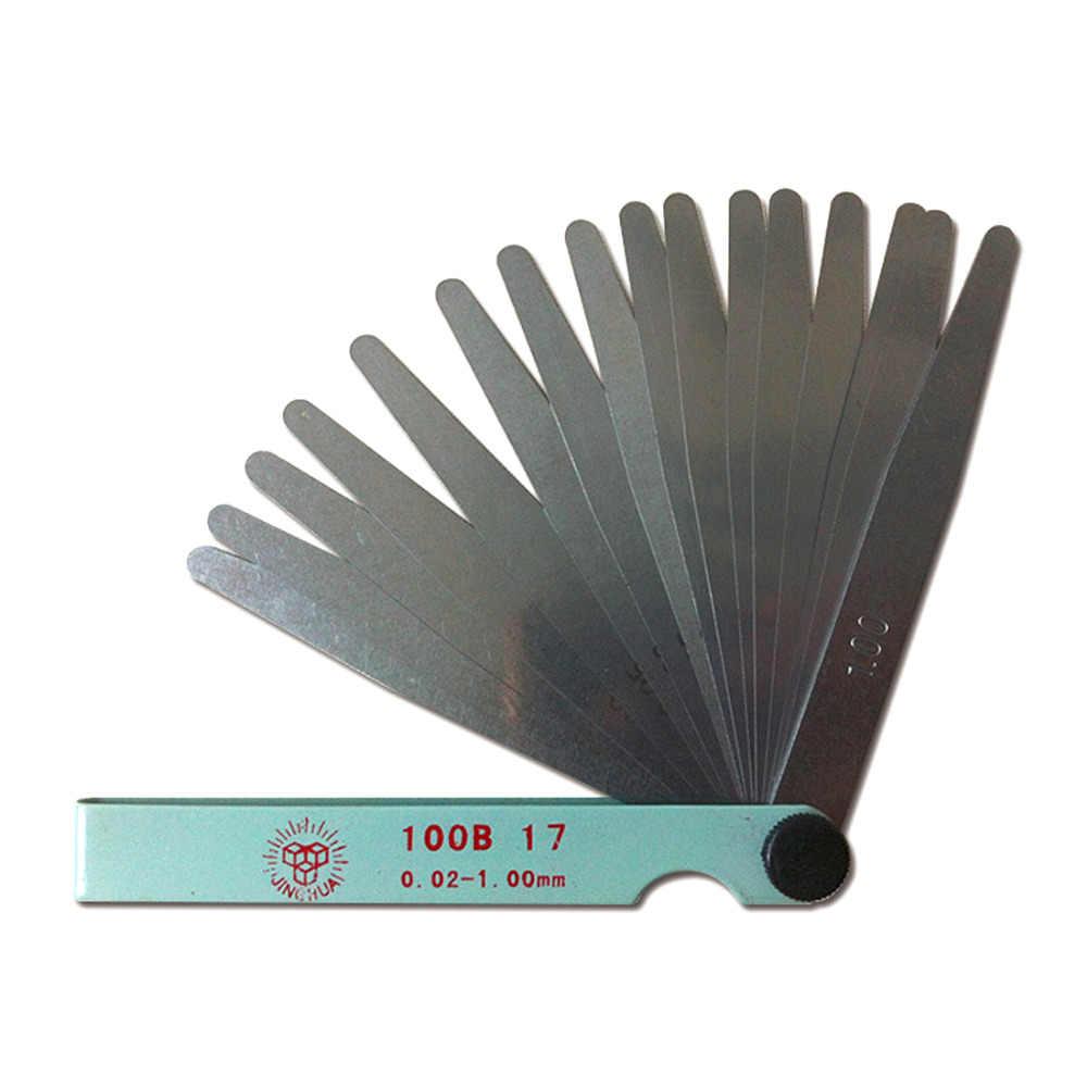 Useful Metric Feeler Gauge Gap Filler Thickness Measurement Tools 17 Blades Hot