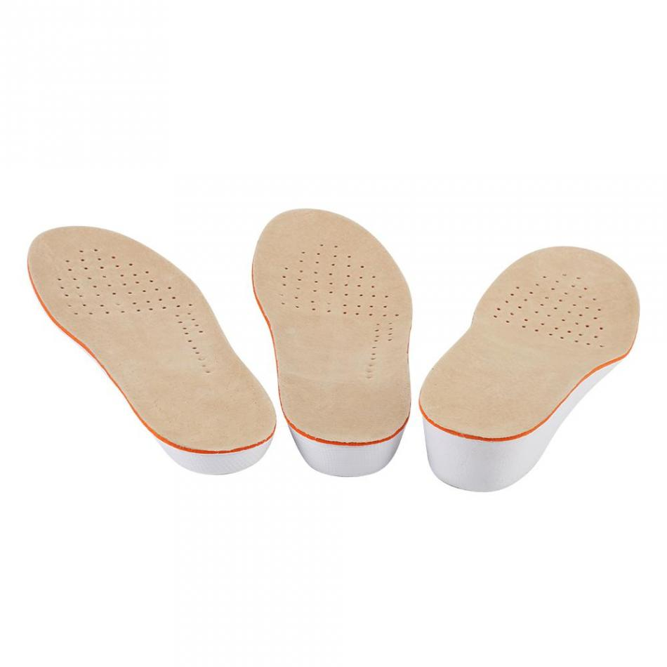 1 Paar Atmungsaktive Hohe Ferse Einlegesohlen Frauen Hohe Ferse Einlegesohlen Weichen Schwamm Massage Schuh Pads Werkzeug Gebogene Stoßdämpfer Kissen Fußpflege-utensil