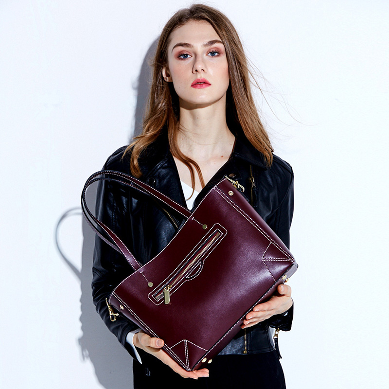 2018 Brand Women Tote Bags Large Capacity Designer Genuine Leather Handbags High Quality Shoulder Bags Business Crossbady Bag chispaulo women genuine leather handbags cowhide patent famous brands designer handbags high quality tote bag bolsa tassel c165