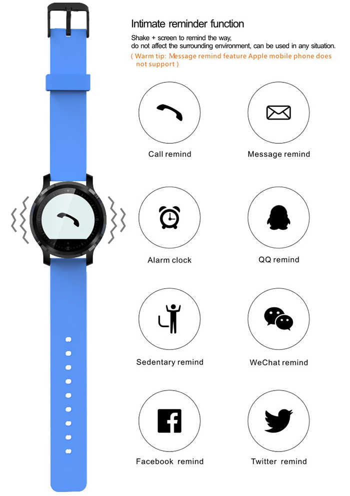 F68 Bluetooth 4.0 Sport Smart Watch Heart Rate Track Wristwatch 1.5 Inch Touch Screen Waterproof IP67 Watch For IOS Android (7)